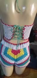 Conjuntos de crochê em promoção os conjunto