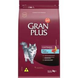 Título do anúncio:  Ração Gran Plus Gatos Castrados Atum e Arroz 3KG
