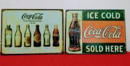 Placas Retrô Metálicas Coca-Cola