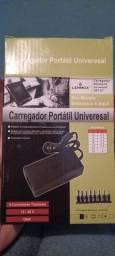 Carregador universal notebook com fonte.