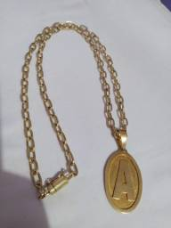 Cartier moeda antiga 70cm fecho gaveta