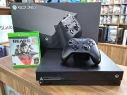 Título do anúncio: Xbox one x semi novo troco em ps4 pro PC e série s