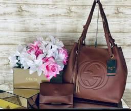 Bolsa Feminina Gucci + Carteira