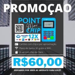 Título do anúncio: MAQUININHA DE CARTÃO COM CHIP (INTERNET GRÁTIS E APROXIMAÇÃO).