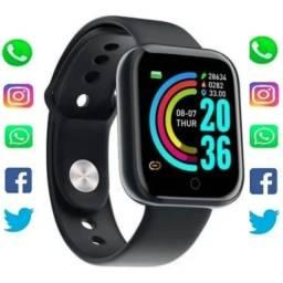 Título do anúncio: Smartwatch Smart Bracelet D20 1 1.3 Pulseira Preta D20