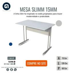 Mesa Slim base de aço med. 120x60x75
