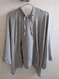 casaco de moletom cinza