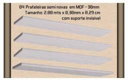 Título do anúncio: Kit c/04 Prateleiras em MDF c/Suporte Invisível