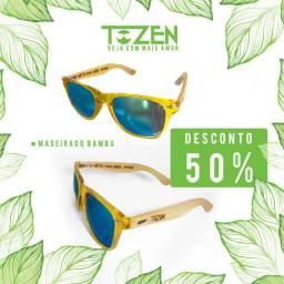 Óculos de Sol Madeirado Tozen Artesanal