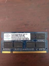 Memória notebook DDR 2 2Gb