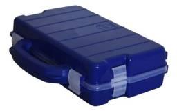 Estojo / Maleta Duplo HI (ED-28-V) com 28 divisões / Verde e Azul