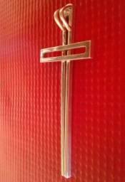 Título do anúncio: Prata verdadeira 950 k pingente crucifixo