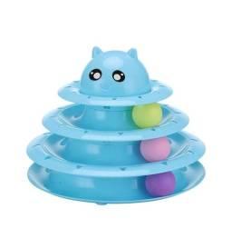 Brinquedo Interativo Para Gatos Torre De Bolinhas