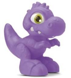 Dinossauro Dino Baby Start 30cm Silmar De Vinil Com Cheiro Roxo