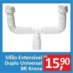 Sifão Extensível Duplo Universal BR - Krona - Promoção R$15,9