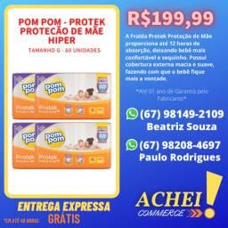 Fralda Pom Pom Protek Proteção de Mãe Hiper - Tamanho G/M