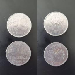 Título do anúncio: Moedas 50 Cruzeiros 1984 e 1985