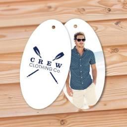 Tags de Roupa Personalizado com o seu logo - Grafica Perssona