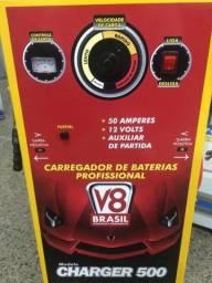 Carregado Baterias 50AH/Aux Partida 60Hz/Bivolt Monofásico Charger 500 V8