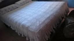 Jogo de cama casal Colcha Croche