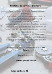 Eletricista - Prestador de Serviços - Ibitinga SP