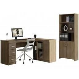 Conjunto 4 Portas 3 Gavetas - com Escrivaninha e Estante