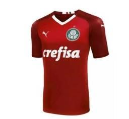 Camisa Palmeiras Goleiro Puma Azul Vermelha