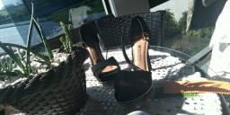 Sapato Salto Meia Pata, 15cm, número 37