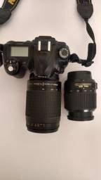 Nikon D50 com duas objetivas