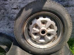 Roda aro 13 corcel 1 com pneu
