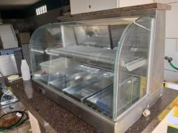 Estufa de salgado com luz de led