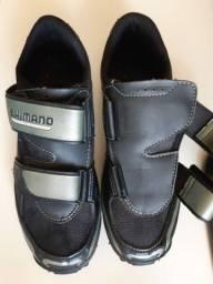 Sapatilha shimano + pedal