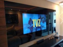 Tv LG 49 4k 3d com óculos e painel em vidro jateado alto padrao