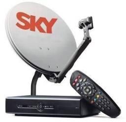 Receptor Sky pré Pago + Antena