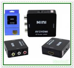 Conversor Vídeo Composto (RCA) Para HDMI 1080p AV2HDMI. NOVO