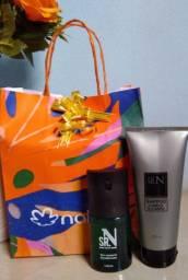 Kit natal natura SRN tradicional masculino deo corporal+ shampoo 200ml
