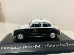 Miniatura Volkswagen Fusca - Polícia Civil De São Paulo 1/43