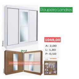 Título do anúncio: Guarda-roupa com espelho guarda-roupa com espelho aceitamos cartões