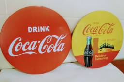 Placas Metálicas decorativas da Coca-Cola
