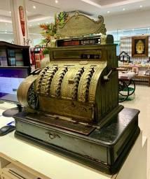 Caixa Máquina Registradora Antiga National, Em Ótimo Estado.