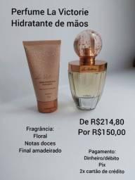 Perfume e Hidratante La Victorie Eudora Promoção