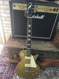 Guitarra vintage v100-gt gold top