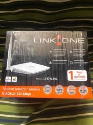 Roteador e modem adsl link one L1-DW141