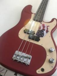 Título do anúncio: (Troco em iPhone) Contrabaixo Squier Fender PB anos 90