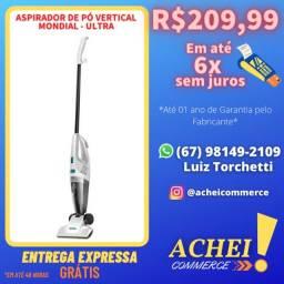 Título do anúncio: Aspirador de Pó Vertical - Mondial - Ultra - Novo - Garantia - NF