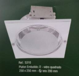 Título do anúncio: Plafon de embutir quadrado para 2 lampadas
