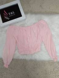 Blusa ciganinha rosa