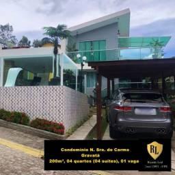 Vendo Casa Duplex em Gravatá, 200m², 04 quartos (04 suítes)