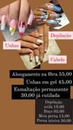 Título do anúncio: UNHAS EM GEL, CABELO, DEPILAÇÃO