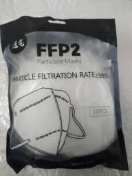 Mascara Kn95 Branca Pff2 com 5 camada de proteção  Pacote c/10 Unidade